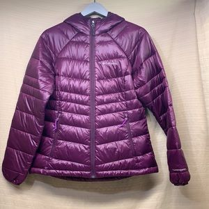COLUMBIA Gold 650 TurboDown Hooded Down Jacket Quilted Purple 550 Fill EUC